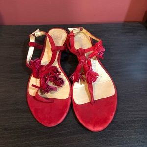 Jeffery Campbell Red Sandals